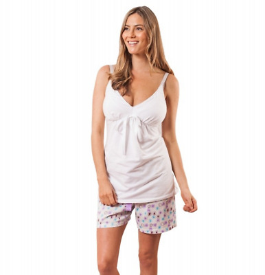 BNWT Mamaybebe maternity nursing breastfeeding pyjama set shorts & singlet top