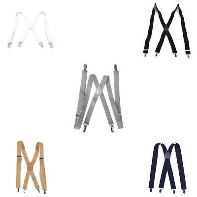 Adjustable Elastic Classic Shoulder Suspenders Boxed Clip