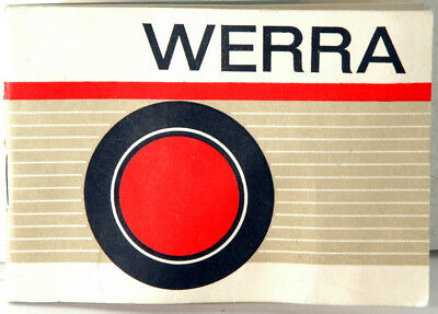 Carl Zeiss Jena Werra Instruction Manual - Photo Section; 30 pp.