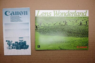 Canon FD Lens Wonderland Guide Book 1982 and Products Guide 1983 ENGLISH