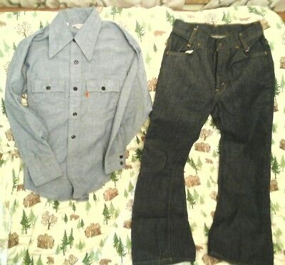 Vintage Levi's Boys Pants & Shirt Unworn Ranch & Farm Wear Nice Rare