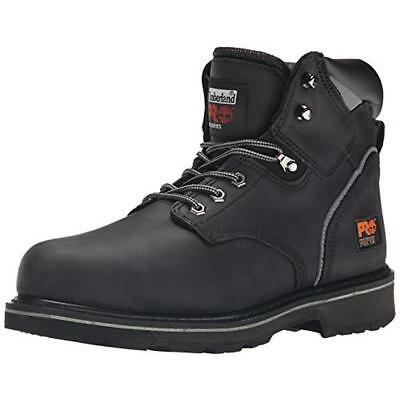 """Timberland 6379 Mens Pit Boss 6"""" Black Work Boots Shoes 10.5 Wide (E) BHFO"""