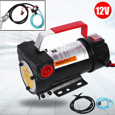 12V Electric Diesel Fluid Extractor Auto Oil Transfer Pump With Fuel Nozzle Top