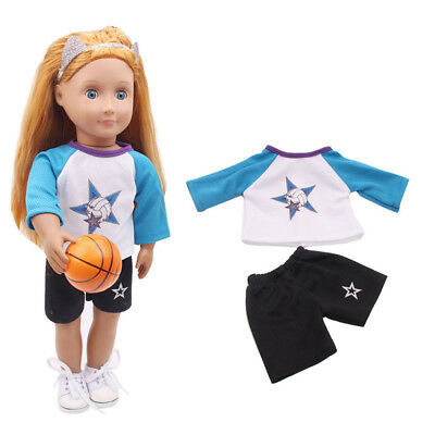 "Basketball Uniform Clothes for 18"" American Girl Our Generation Dolls Outfit"