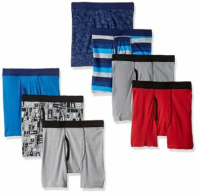 Men's Breathable Performance Comfortable Soft Printed Boxer Briefs Large 7 Packs