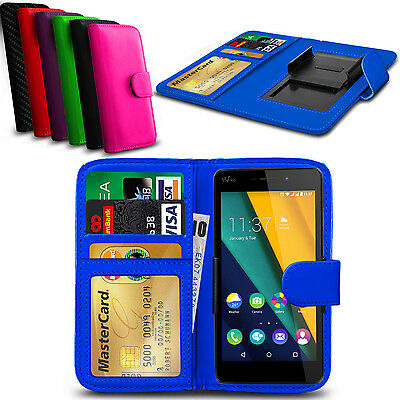Clip On PU Leather Flip Wallet Book Case Cover For Wiko Jimmy
