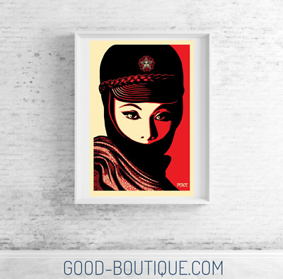 "Shepard Fairey・Obey Giant・Mujer Fatale Offset・ Lithographie signée・24""x36"" nt AP"