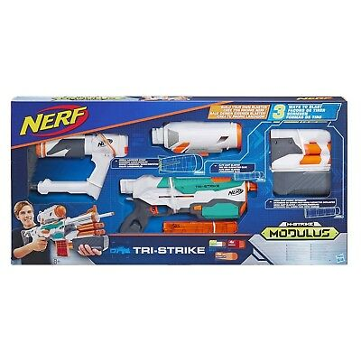 NERF Hasbro N-Strike Elite Modulus Tri-Strike Blaster In-Stock
