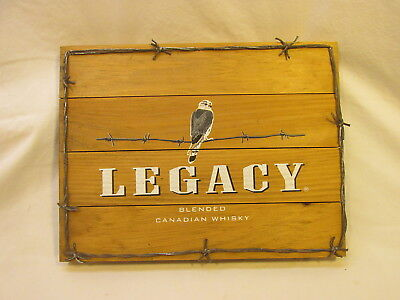 >> Legacy Blended Canadian Whiskey Wood Sign