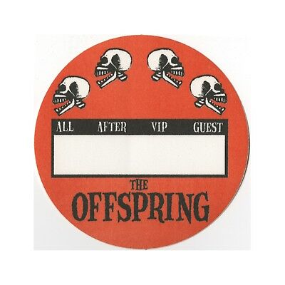 The Offspring authentic concert tour satin Backstage Pass All Access orange