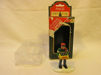 ~ NEW DELIVERY MAN FROM THE COCA COLA TOWN SQUARE COLLECTION w/ ORIGINAL BOX
