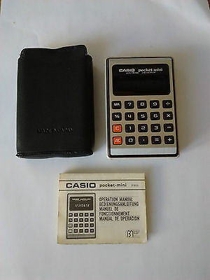 Casio Pocket Mini (P-812) Vintage Calculator With Manual And Original Softcase