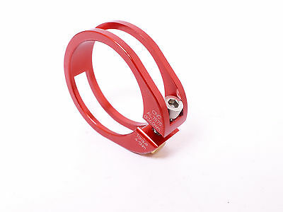 mr-ride Bling 13g 36mm Seat Clamp CNC Ultra light Red - fit 34.9mm Seatpost