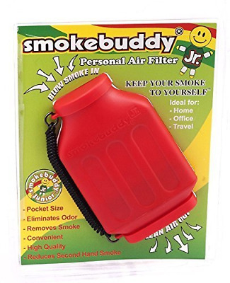 Smoke Buddy Jr. Personal Air Purifier Cleaner Filter Removes Odor - Red