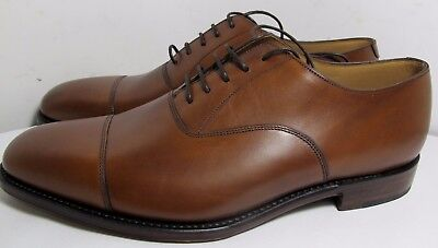Loake Aldwych Mahogany Plain Front Shoe 9.5 F New Slight Seconds RRP £230 (3214)