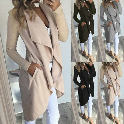 Fashion Women's Slim Long Coat Jacket Trench Windbreaker Parka Outwear Cardigan