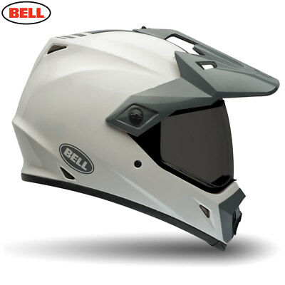 Bell Mx-9 Adventure Mx Motorcycle Dual Road & Off Road Helmet Solid White - Sale