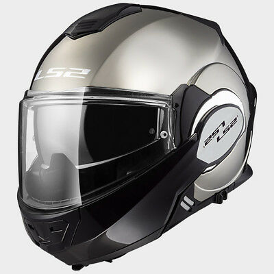 LS2 - FF399 Valiant Motorcycle Motorbike Full Face Visor Helmet - Gloss Chrome
