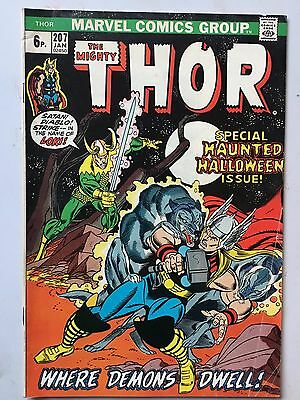 Thor (Vol.1)  #207 Bronze Age 1973 Gerry Conway John Buscema Gil Kane cover