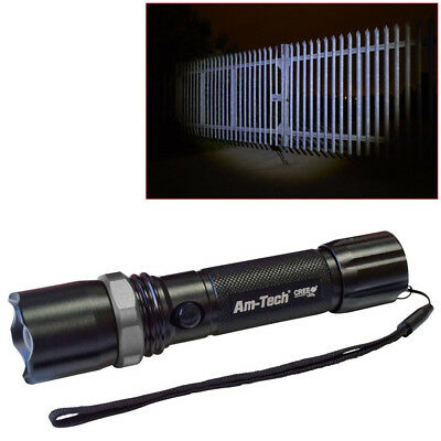 5W Rechargeable Cree Led Zoomable Torch Li-Ion Battery 300M 10 Year Warranty!