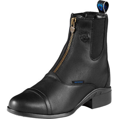 Ariat Heritage Iv Zip H2o Womens Boots Paddock - Black All Sizes