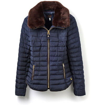 Joules Gosfield Short Padded Womens Jacket Synthetic Fill - Marine Navy
