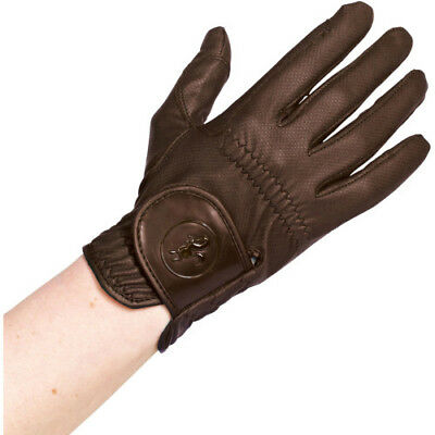 Caldene Pu Womens Gloves Competition Glove - Brown All Sizes