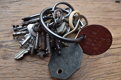 Small Bunch of Old Vintage Keys from RAF Metheringham