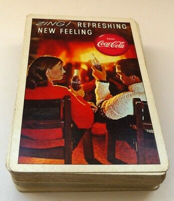 1963 Drink Coca Cola, ZING Refreshing New Feeling  Deck Playing Cards. No Box, J