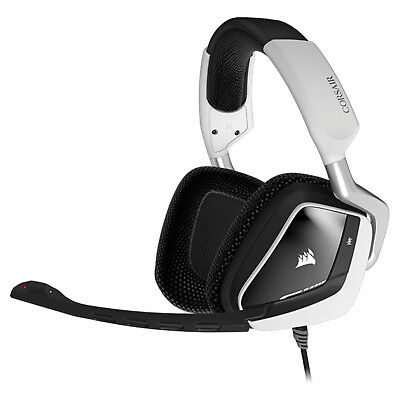 Corsair VOID RGB Dolby 7.1 USB Gaming Headset Kopfhörer Weiß Over-Ear E-Sport
