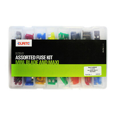 Assorted Mini, Blade and Maxi Fuse Kit - Durite - 0-235-01