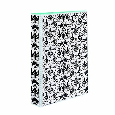 "Mini Durable Style Binder with 1"" Round Rings, Chandelier Damask 5-1/2 x 8-1/2"""