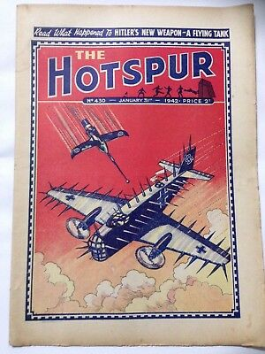 DC Thompson. THE HOTSPUR Wartime Comic. January 31st 1942 Issue 430.