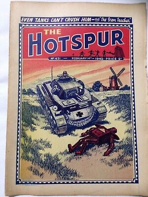 DC Thompson. THE HOTSPUR Wartime Comic. February 14th 1942 Issue 431.