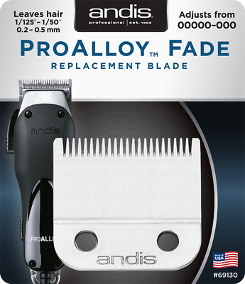 Andis Pro Alloy Fade Blade #69130 Fits Pro Alloy or Fade clippers (69100, 69140)