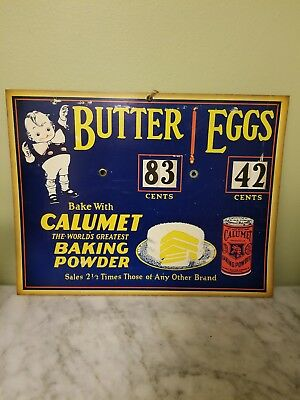 Antique Vintage Baking Sign Calumet Baking Powder Circa 1940