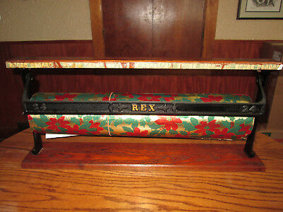 Vintage Rex General Store Wrapping Paper Roll Dispenser Cutter. Christmas Wrappe