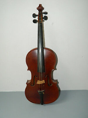 Antique French D. NICOLAS AINE Violin One Piece Tiger Maple Back Triangle Stamp