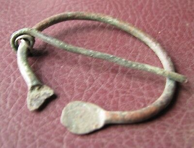 Authentic Ancient Lake Ladoga VIKING Artifact > Bronze Fibula  RJ 25-A