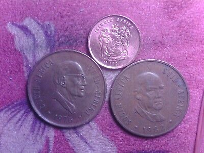 South  Africa  1 Cent 1998    2  Cents  1976   1982