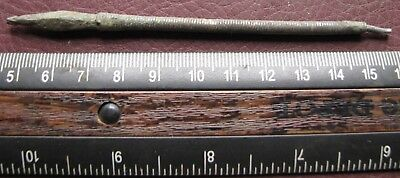 Authentic Ancient Lake Ladoga VIKING Artifact > Silver Hair Pin Fragment  RJ 30