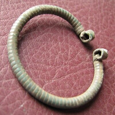 Authentic Ancient Lake Ladoga VIKING Artifact > Bronze Fibula  RJ 34