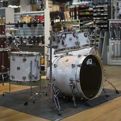 Drum Workshop Collectors Series Shell Kit in White Crystal