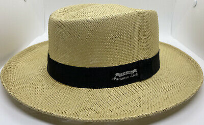 4abfe78e666 PANAMA JACK NATURAL STRAW OPTIMO GOLF OUTDOORS SUN PROTECTION HAT S M  Flexible