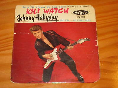 disque 45 tours  JOHNNY HALLYDAY  KILI WATCH 45T EP VOGUE EPL 7812