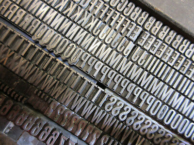 Letterpress Lead Type 24 Pt. Condensed Gothic - Chicago Type Foundry  D39