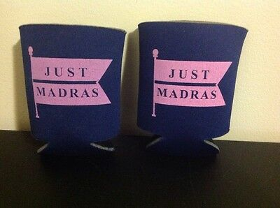 TWO (2) Just Madras beer / soda / soft drink can beverage koozies FREE SHIPPING