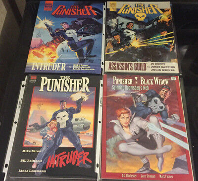 The Punisher Graphic Novel and Comic Lot of 4 - Marvel