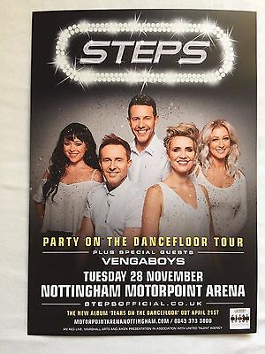 4x STEPS band promo FLYERS live 2017 nottingham concert tears on dancefloor tour