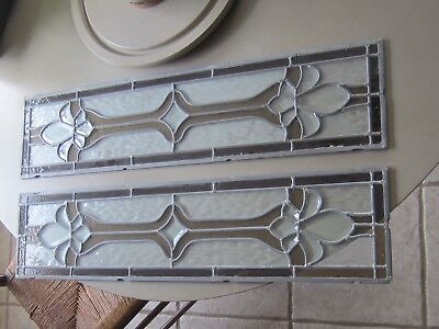 2  stained glass  panel 8 X 36